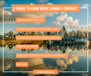what factors to Consider Before Signing a Contract